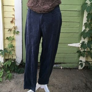 Cute Navy Tencel  Jogger Pants